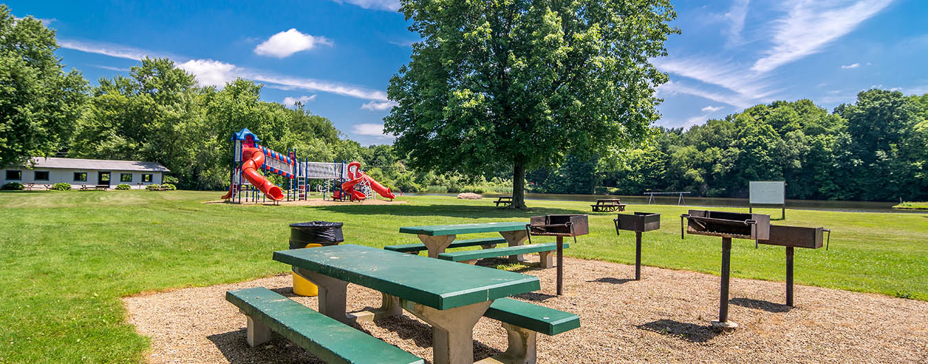 picnic area with playground