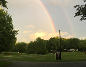 double rainbow over the park