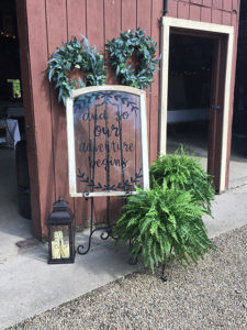 welcome to our wedding at the barn at chestnut ridge